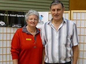 Macey's Mixed pairs winners Barb Draffen & Rob McCrabb