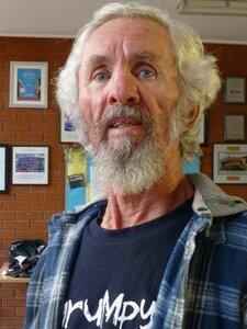 Consolation singles winner Alan Bell