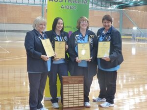 National Ladies Fours Champions Karen Brodie, Nicole Collins, Joanne Webster and Michelle Tait.